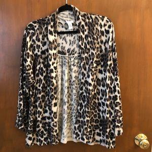 Chico's leopard print sweater